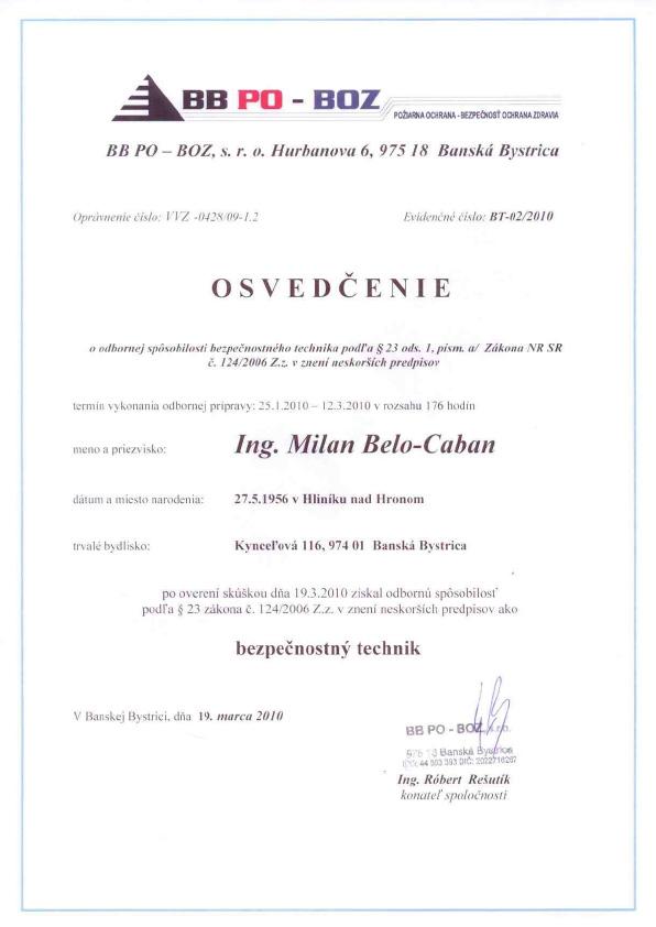 M. Belo-Caban: Oprávnenia